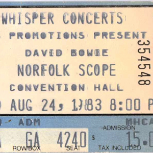 David Bowie 1983-08-24 Norfolk ,Scope Cultural and Convention Center (Remake) - SQ 8