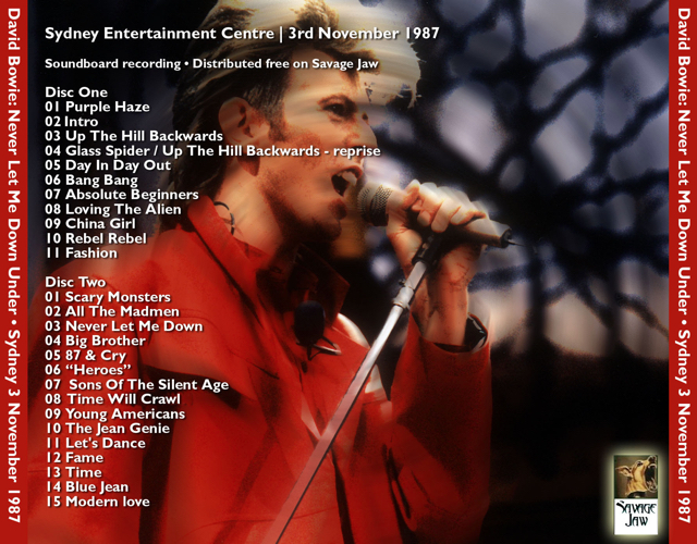 david -bowie-Never Let Me Down Under-tray