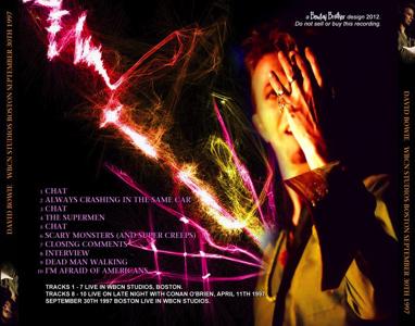 David Bowie-Cambridge-Fort-Apache-Studios-April-8th-1997 -WBCN 97 TRAY