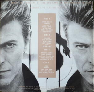 David Bowie - Jukebox Jive Recorded Live - cover - back