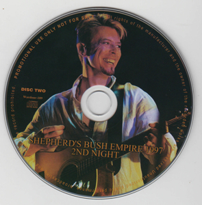 david-bowie-shepherd's-bush-empire-1999-2nd-night-Front - OuterCD 2