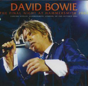 David Bowie 2002-09-18 London ,Maida Vale Studio 3 - The Final Night at Hammersmith 2002 - (Wardour 3CD edition wardour-190) - SQ 9