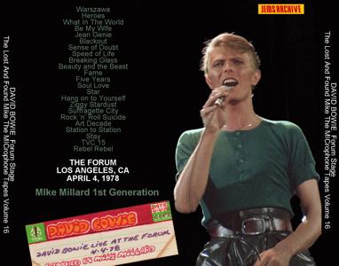 David Bowie 1978-04-04 LA MIllard BACK