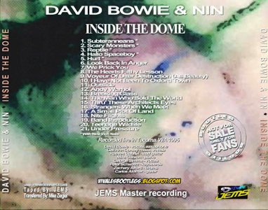 David Bowie and NIN Inside The Dome Tacoma 1995 back