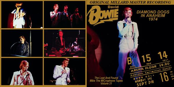 David Bowie 1974 Anaheim FRONT