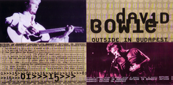 David Bowie [1997.08.14] Outside In Budapest (TABOO140897) - Cover Fold 2