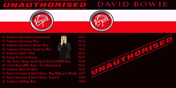 David Bowie Unauthorised Virgin Front