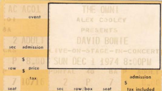 david-bowie-1974-12-01 - Atlanta-Omni-Arena -Ticket