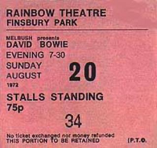 david-bowie-the-rainbow-theatre-Ticket