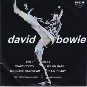 David Bowie Space Oddity - Moonage Daydream - Life on Mars - It Ain't Easy (1972 USA) estimated value € 45,00