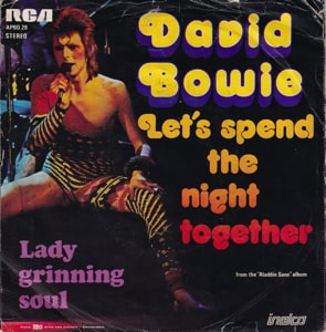 David Bowie Let's Spend The Night Together - Lady Grinning Soul (1973) estimated value € 20,00
