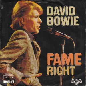 David Bowie Fame - Right (1975) estimated value € 7,00