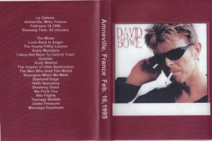 David Bowie 1996-02-16 Amneville ,Le Galaxie - Amneville ,France Feb.16 ,1996 -