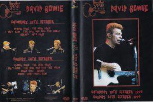 David Bowie 1996-10-19/20 Mountain View ,Shoreline Amphitheatre - Bridge School Benefit -