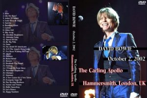 David Bowie 2002-10-02 London ,Hammersmith Odeon - October 2, 2002 - (audience recording)