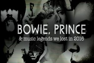 David Bowie Bowie,Prince and Music Legends we lost in 2016 (Sky Arts TV)