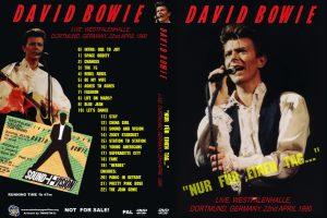 """David Bowie 1990-04-22 Dortmund ,Westfalenhalle - """"Nur Fur Einen Tag..."""" -"""